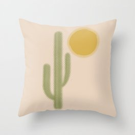 El Desierto Throw Pillow