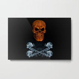 Skull And Crossbones 1 Metal Print