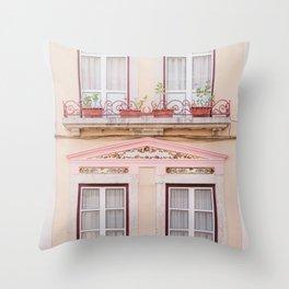 Pretty Rose Pink Windows Throw Pillow