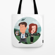 Mulder and Scully Tote Bag