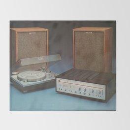 Vintage Speakers 1 Throw Blanket
