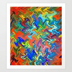 Melting Marbles Art Print