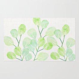 Jade Plant Watercolor Rug