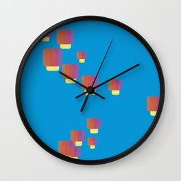 festival of lamps Wall Clock