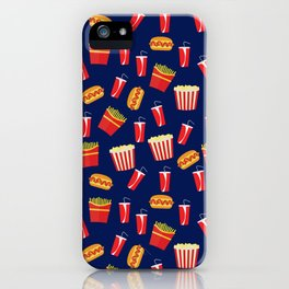 Fast food party iPhone Case