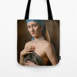 Girl in a Silent Room Tote Bag