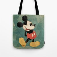 mickey Tote Bags featuring Mr. Mickey Mouse by Ed Burczyk