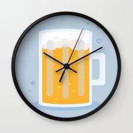 Cheers - Light Blue & Gold Wall Clock