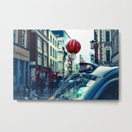Chinatown Taxi Metal Print