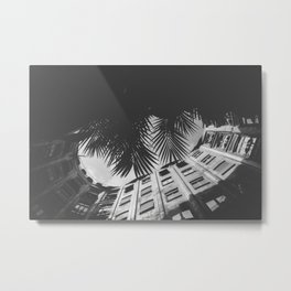 BARCELONA PALM TREES Metal Print
