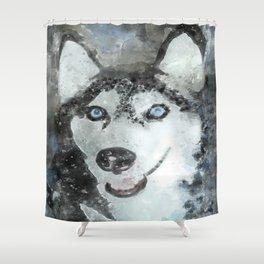 Tika'ani our Siberian Husky Shower Curtain