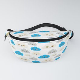 Rainbow Power Clouds Fanny Pack