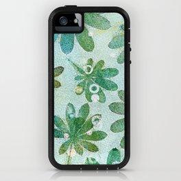 Dreamy green flowers iPhone Case