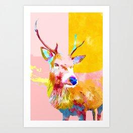 Cervine #painting #wildlife Art Print
