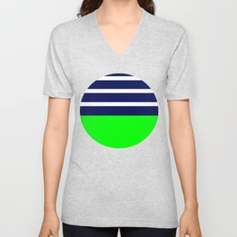 Summer Patio Perfect, Green, White, Navy Unisex V-Neck