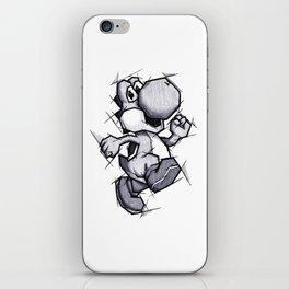 Yoshi Handmade Drawing, Games Art, Super Mario, Nintendo Art iPhone Skin