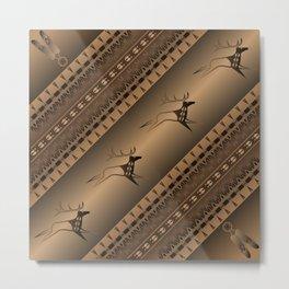 Elk Spirit (Brown) Metal Print