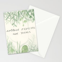 Collect Moments foliage watercolor Stationery Cards