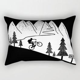 MTB Mountain Bike Downhill Cycling Rectangular Pillow