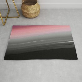 Pink to Gray Smooth Ombre Rug