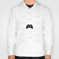 xbox Hoodies featuring Xbox One Controller by Tino-George