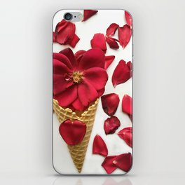 Red Flowers Red Roses Waffle Cone Kitchen Art iPhone Skin