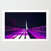 Think Pink at the Sundial Bridge Art Print