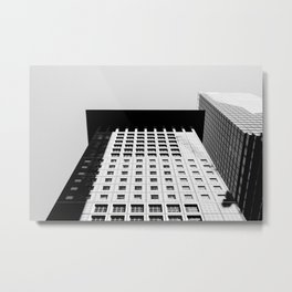 Frankfurt skyline urban cityscape photo city architecture FFM Germany black and white Metal Print