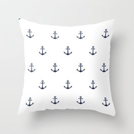 Anchor Pattern Throw Pillow