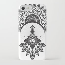 Owl Dreamcatcher w/ Native American Head Dress iPhone Case