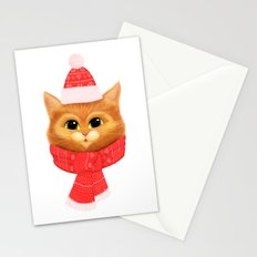 Winter kitty Stationery Cards