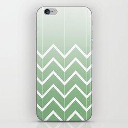 Broken Chevrons (Green) iPhone Skin
