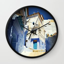 Chaouen street Wall Clock