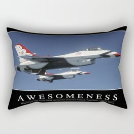 Awesomeness: Inspirational Quote and Motivational Poster Rectangular Pillow