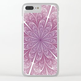 Pink Swirls Clear iPhone Case