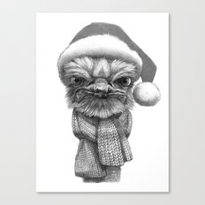 Christmas Ostrich G145 Canvas Print