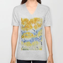 Under the Birch Forest Unisex V-Neck