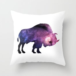 Awesome Bison Throw Pillow