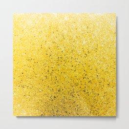 Vibrant Glittery Golden Sparkle Metal Print