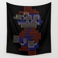 mario Wall Tapestries featuring Mario by Anastase Kyriakos