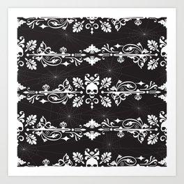Fleur De Crâne Art Print