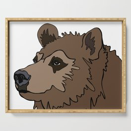 Canadian Grizzly Bear Serving Tray