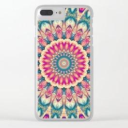 Flower Of Life Mandala (Summer Daisy) Clear iPhone Case