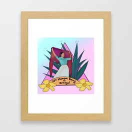 No Human is Illegal Framed Art Print