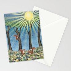 sunshine squirrels Stationery Cards