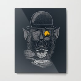 a british gentleman werewolf  Metal Print