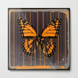 SHABBY CHIC ANTIQUE BUTTERFLY ART Metal Print