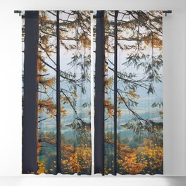 Earthscape Landscape Photography Tall Autumn Fall Trees Overlooking Fields Blackout Curtain