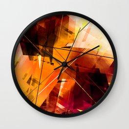 Shards of Sun - Geometric Abstract Art Wall Clock