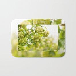 Viburnum opulus Roseum flowers Bath Mat